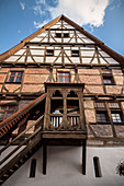historic staircase to the Riedlingen Museum, Biberach district, Baden-Wuerttemberg, Danube, Germany