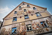 historical painting on house in Riedlingen, Biberach district, Baden-Württemberg, Danube, Germany