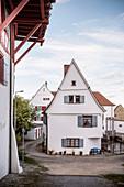 historic houses in Riedlingen, Biberach district, Baden-Württemberg, Danube, Germany