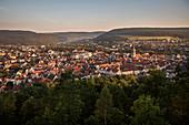 View from Honberg to the city of Tuttlingen, Baden-Wuerttemberg, Danube, Germany