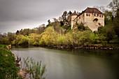 Bartelstein Castle on the Danube, Scheer near Sigmaringen, Baden-Württemberg, Germany