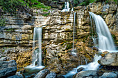 At the Kuhflucht waterfalls, Farchant, Upper Bavaria, Bavaria, Germany, Europe