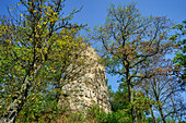 Below the Siegenstein castle ruins, Cham, Upper Palatinate, Bavaria, Germany