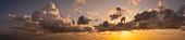 Golden sunset over the Mediterranean Sea, Menorca, Balearic Islands, Spain, Europe