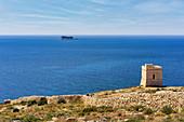 Watchtower on the south coast of Malta, Mediterranean, Europe