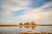 The house between the rocks, Le Gouffre, Plougrescant, Atlantic, Dept. Cotes-d'Armor, Brittany, France, Europe