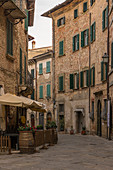 In the streets of Lucignano, Arezzo Province, Tuscany, Italy