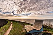 Field sofa on the steep coast of Gold on Fehmarn, Baltic Sea, Ostholstein, Schleswig-Holstein, Germany