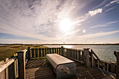 Viewing platform at the Markelsdorfer Huk on Fehmarn, Baltic Sea, Ostholstein, Schleswig-Holstein, Germany