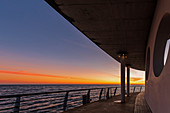Evening mood on the pier in Kellenhusen, Baltic Sea, Ostholstein, Schleswig-Holstein, Germany