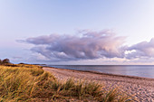 Morning mood on the beach in Dahme, Baltic Sea, Ostholstein, Schleswig-Holstein, Germany