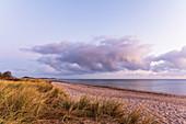Morgenstimmung am Strand in Dahme, Ostsee, Ostholstein, Schleswig-Holstein, Deutschland