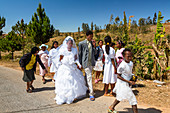 Wedding party in the highlands of Madagascar, Africa