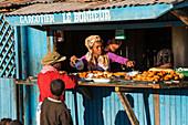 Food stand, kiosk at Isalo National Park near Ranohira, Ihorombe region, Southern Madagascar, Africa