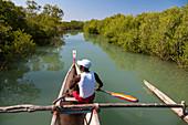 Bootstour in den Mangroven bei Morondava, Madagaskar, Afrika