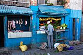 Butcher and Greengrocer, Antananarivo, Madagascar, Africa