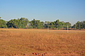 Gambia; Central River Region; Kuntaur; Soccer field on the outskirts
