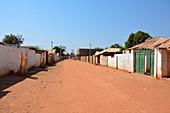 Gambia; Central River Region; Street in Janjanbureh; formerly Georgetown
