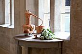 Old, copper still used for spa treatments. Bath, United Kingdom