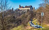 Veste Coburg und Hofgarten in Coburg, Oberfranken, Bayern, Deutschland