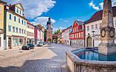 Ketschentor and Ketschengasse in Coburg, Upper Franconia, Bavaria, Germany