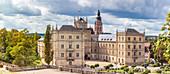 Ehrenburg Castle and Schlossplatz in Coburg, Upper Franconia, Bavaria, Germany