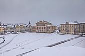 State Theater and Schlossplatz in Coburg, Upper Franconia, Bavaria, Germany