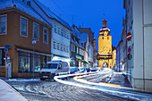 Judentor and Judengasse in Coburg, Upper Franconia, Bavaria, Germany