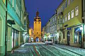 Judentor und Judengasse in Coburg, Oberfranken, Bayern, Deutschland