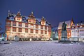 Coburg market square, Coburg, Upper Franconia, Bavaria, Germany