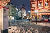 Coburger Marktplatz und Herrngasse, Coburg, Oberfranken, Bayern, Deutschland