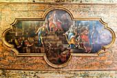 Decke, Santa Chiara-Kirche, Noto, Sizilien, Italien