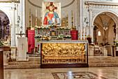 Altar of the Church of San Nicolo in Taormina, Sicily, Italy