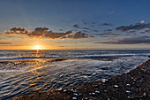 Sonnenuntergang, Küste, Capo d'Orlando, Sizilien, Italien
