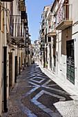 Straße, Altstadt, Cefalu, Sizilien, Italien