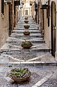 Treppenweg, Altstadt, Cefalu, Sizilien, Italien