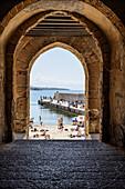 Passage to the city beach, Cefalu, Sicily, Italy