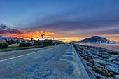 Sonnenuntergang, Palermo, Sizilien, Italien