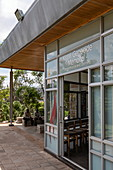 Entrance to the Kigali Genocide Memorial Center, Kigali, Kigali Province, Rwanda, Africa