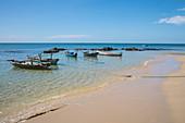Fishing boats at Ong Lang Beach, Ong Lang, Phu Quoc Island, Kien Giang, Vietnam, Asia