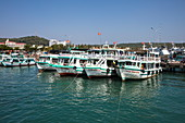 Excursion boats at the pier, near Duong Dong, Phu Quoc Island, Kien Giang, Vietnam, Asia