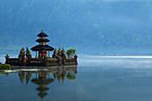The Balinese water temple Ulan Danu set in Lake Bedugul. Bali, Indonesia.