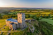 The Church of St. Michael De Rupe on Brentor in Dartmoor National Park, Devon, England, United Kingdom, Europe