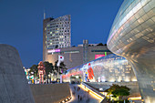 Dongdaemun Design Plaza at dusk, Seoul, South Korea, Asia