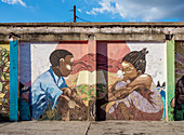 Life Yard Graffiti, Fleet Street, Downtown, Kingston, Kingston Parish, Jamaica, West Indies, Caribbean, Central America