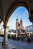 Saint Mary's Basilica in the Market Square, UNESCO World Heritage Site, Krakow, Poland, Europe