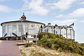 Beach hall of Langeoog, dune, Langeoog, East Frisia, Lower Saxony, Germany