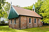 Old island church (Protestant) from Spiekeroog, built in 1696, Spiekeroog, East Frisia, Lower Saxony, Germany