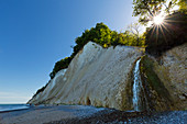 Waterfall on Kieler Bach, Jasmund National Park, chalk cliffs, chalk coast, Rügen, Baltic Sea, Mecklenburg-Western Pomerania, Germany