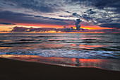 Morning mood on the beach, Ahlbeck, Usedom, Baltic Sea, Mecklenburg-Western Pomerania, Germany